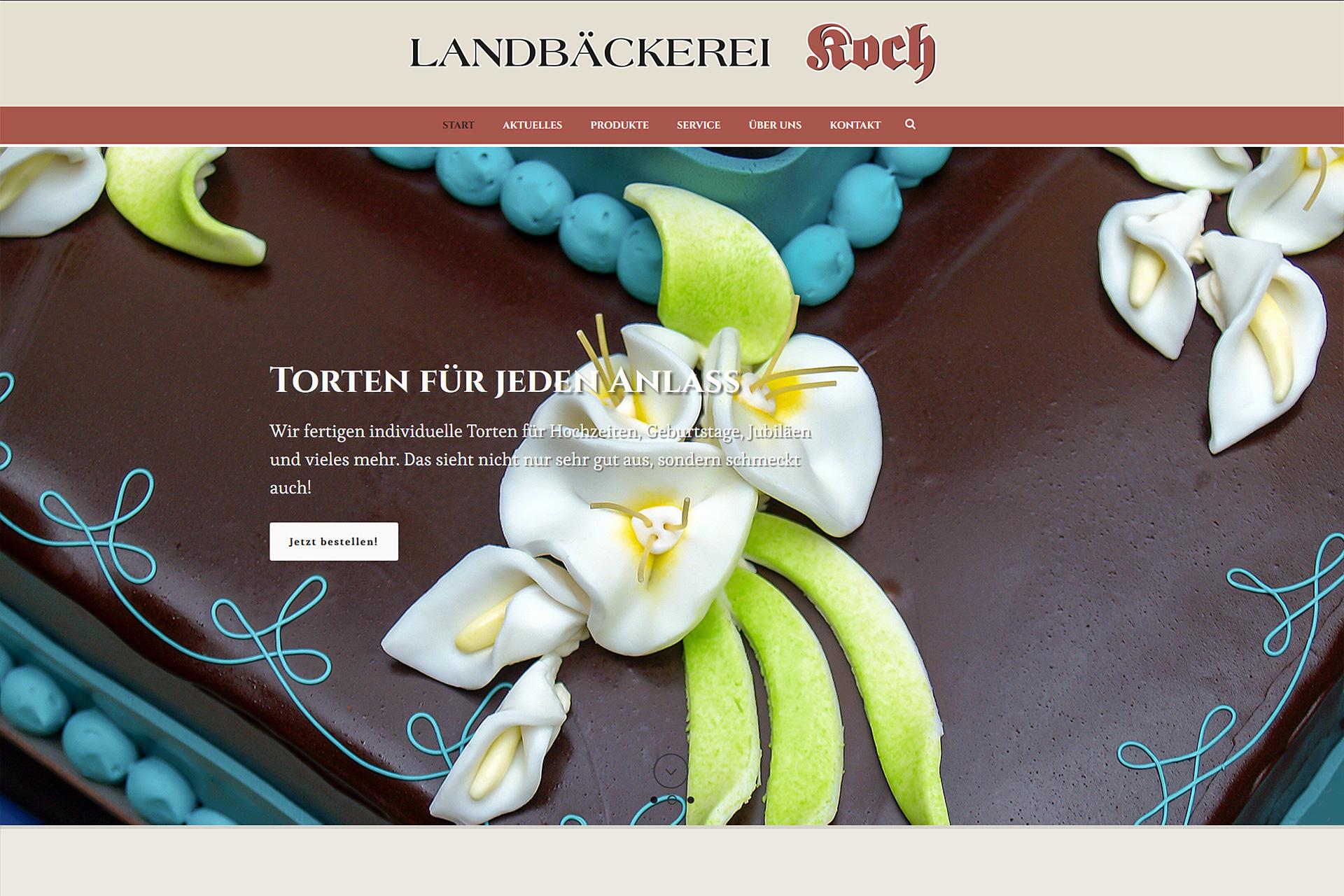 Landbäckerei Koch: Willkommen auf unserer neuen Website!