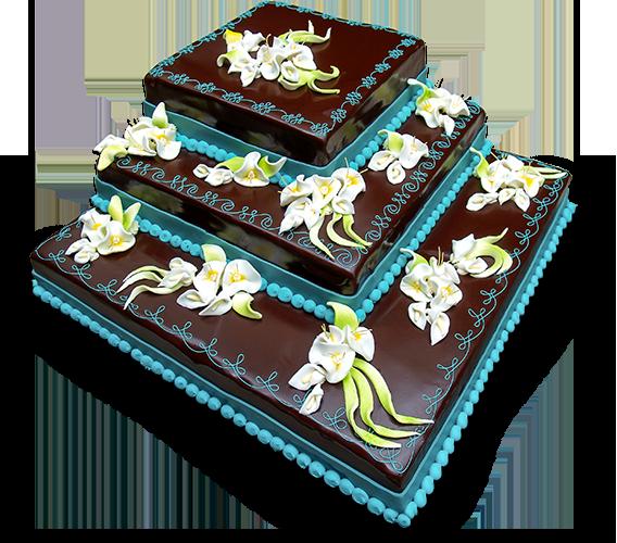 Torten: Hochzeitstorte rechteckig