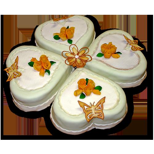 Torten: Hochzeitstorte Kleeblatt