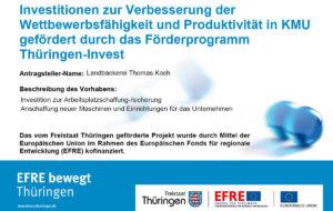 EFRE-Förderung - Plakat